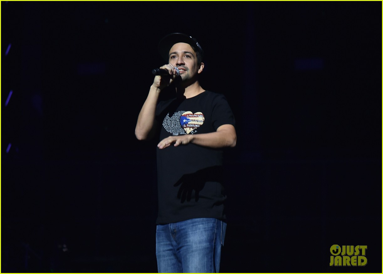 chris brown lin manuel miranda dj khaled hit stage at tidal x brooklyn concert 043974434