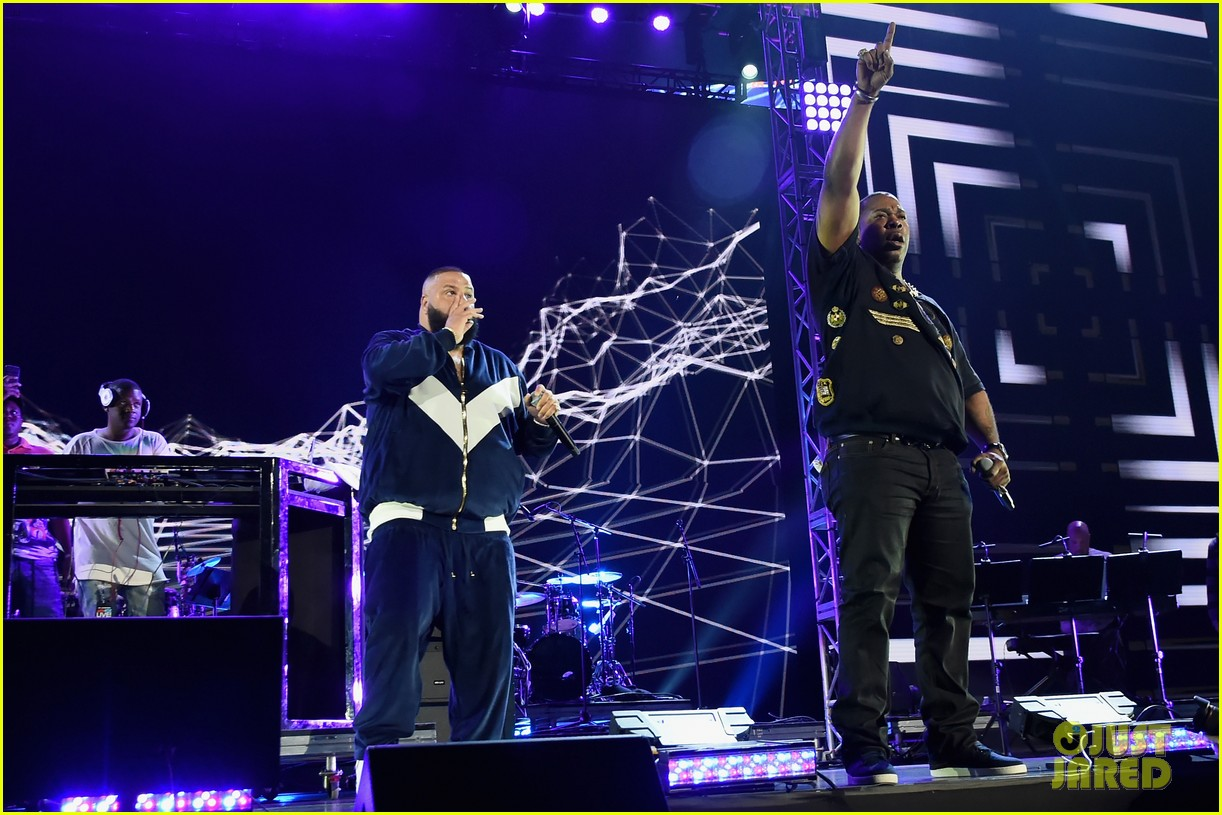 chris brown lin manuel miranda dj khaled hit stage at tidal x brooklyn concert 193974449