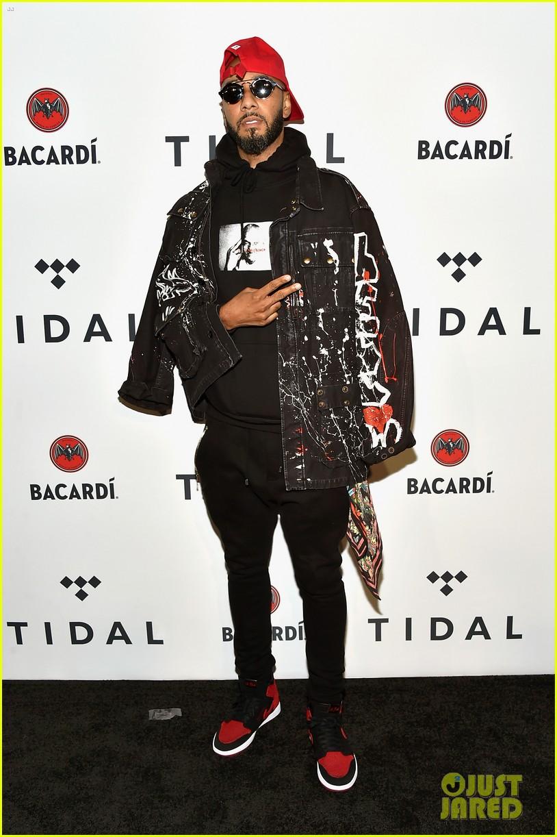 chris brown lin manuel miranda dj khaled hit stage at tidal x brooklyn concert 213974451