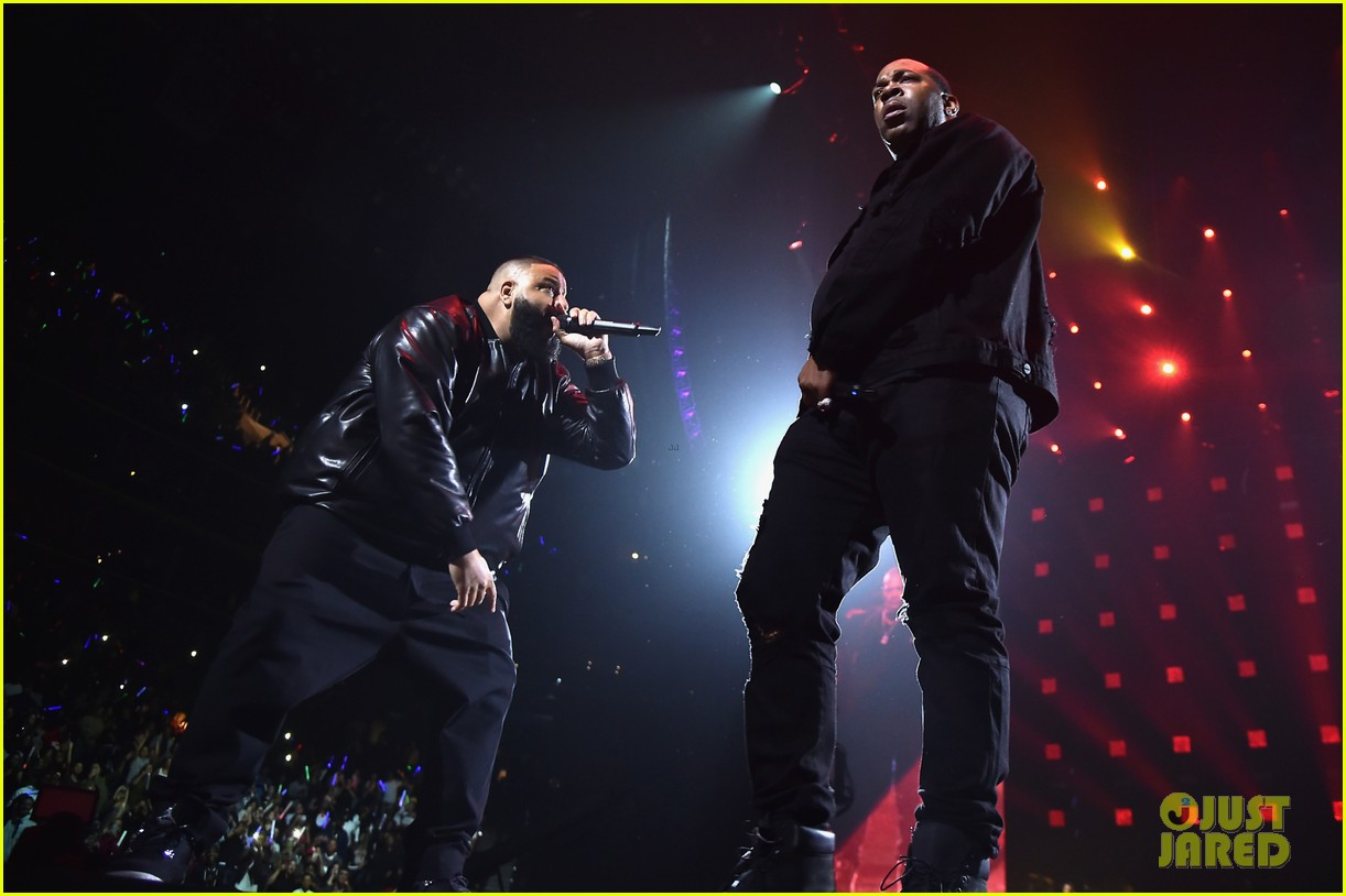 chris brown lin manuel miranda dj khaled hit stage at tidal x brooklyn concert 353974465