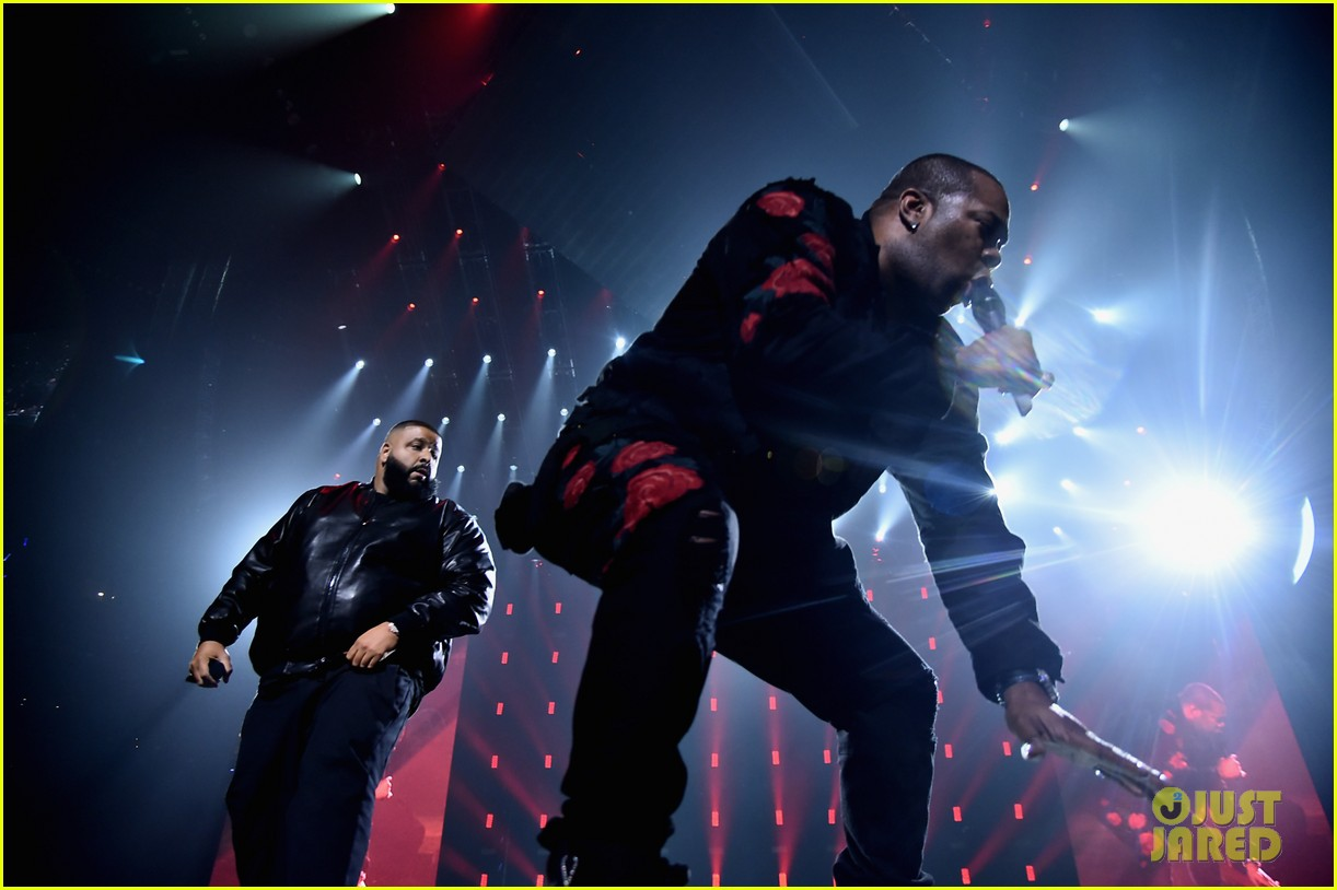 chris brown lin manuel miranda dj khaled hit stage at tidal x brooklyn concert 363974466