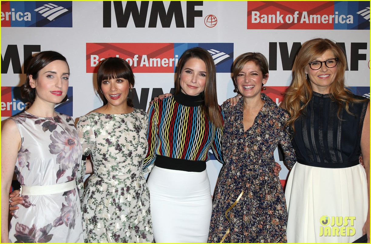 connie britton sophia bush rashida jones team up at international womens media 353978042
