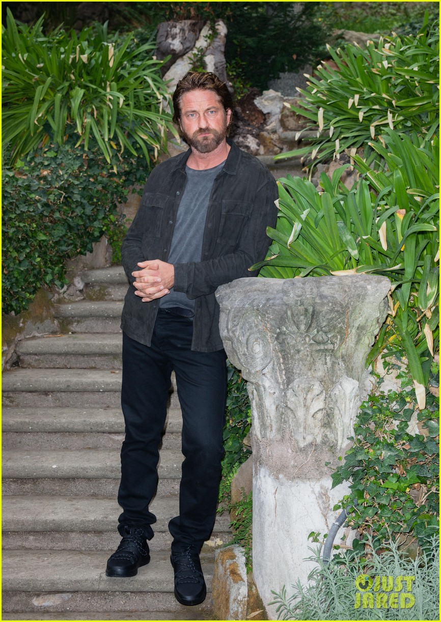 gerard butler rome photo call geostorm 233976289