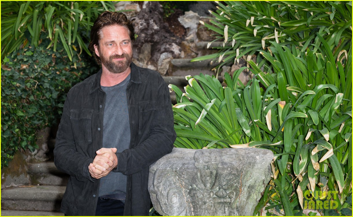 gerard butler rome photo call geostorm 273976293