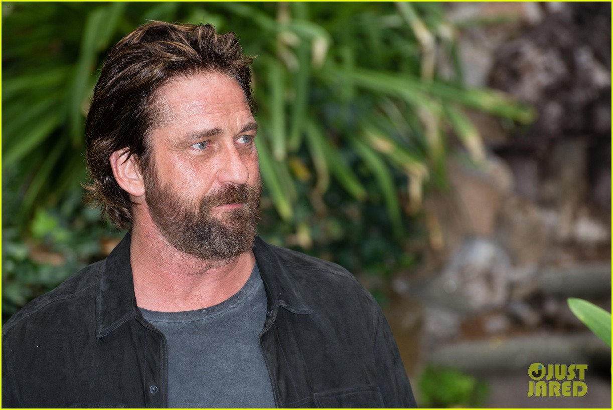 gerard butler rome photo call geostorm 283976294