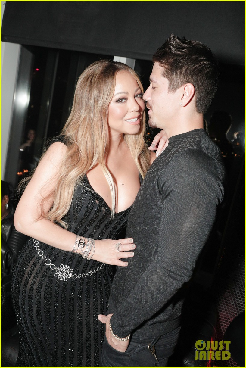 mariah carey buddies up with alex pettyfer at karl lagerfelds intimate dinner 013977090