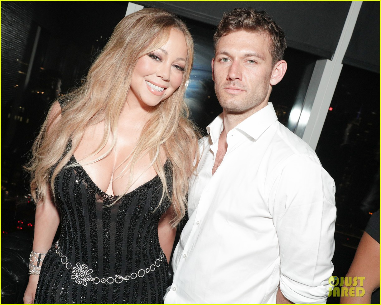 mariah carey buddies up with alex pettyfer at karl lagerfelds intimate dinner 033977092