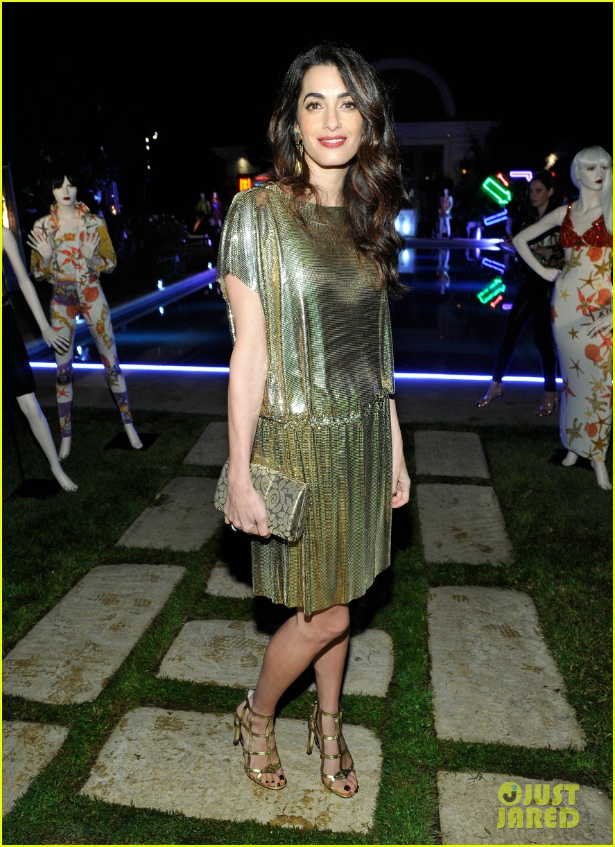 amal clooney has solo girls night out at william vintages gianni versace archive 063968901