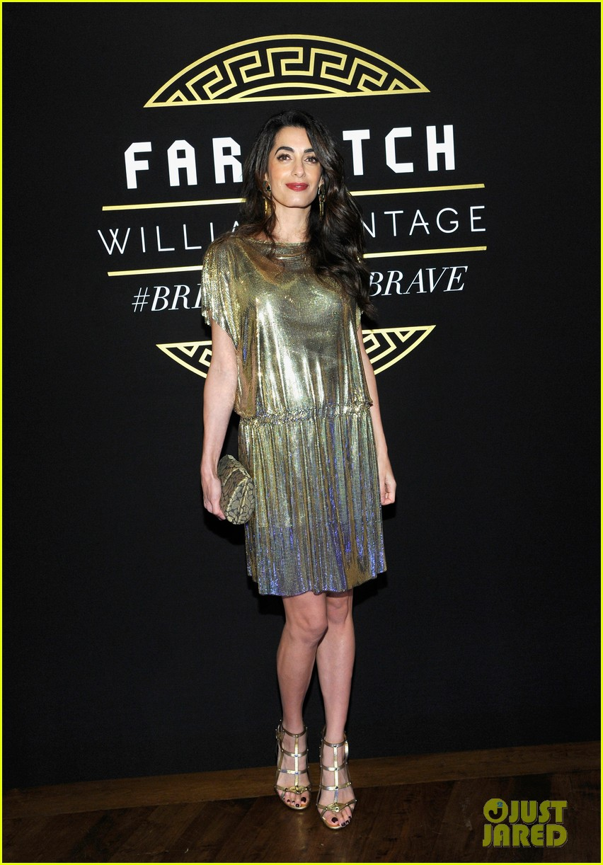 amal clooney has solo girls night out at william vintages gianni versace archive 243968919