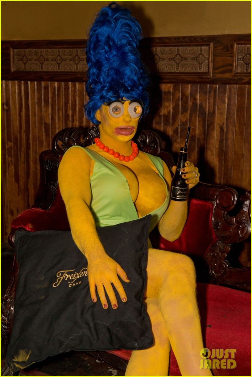 colton haynes channels marge simpson for halloween 013977700