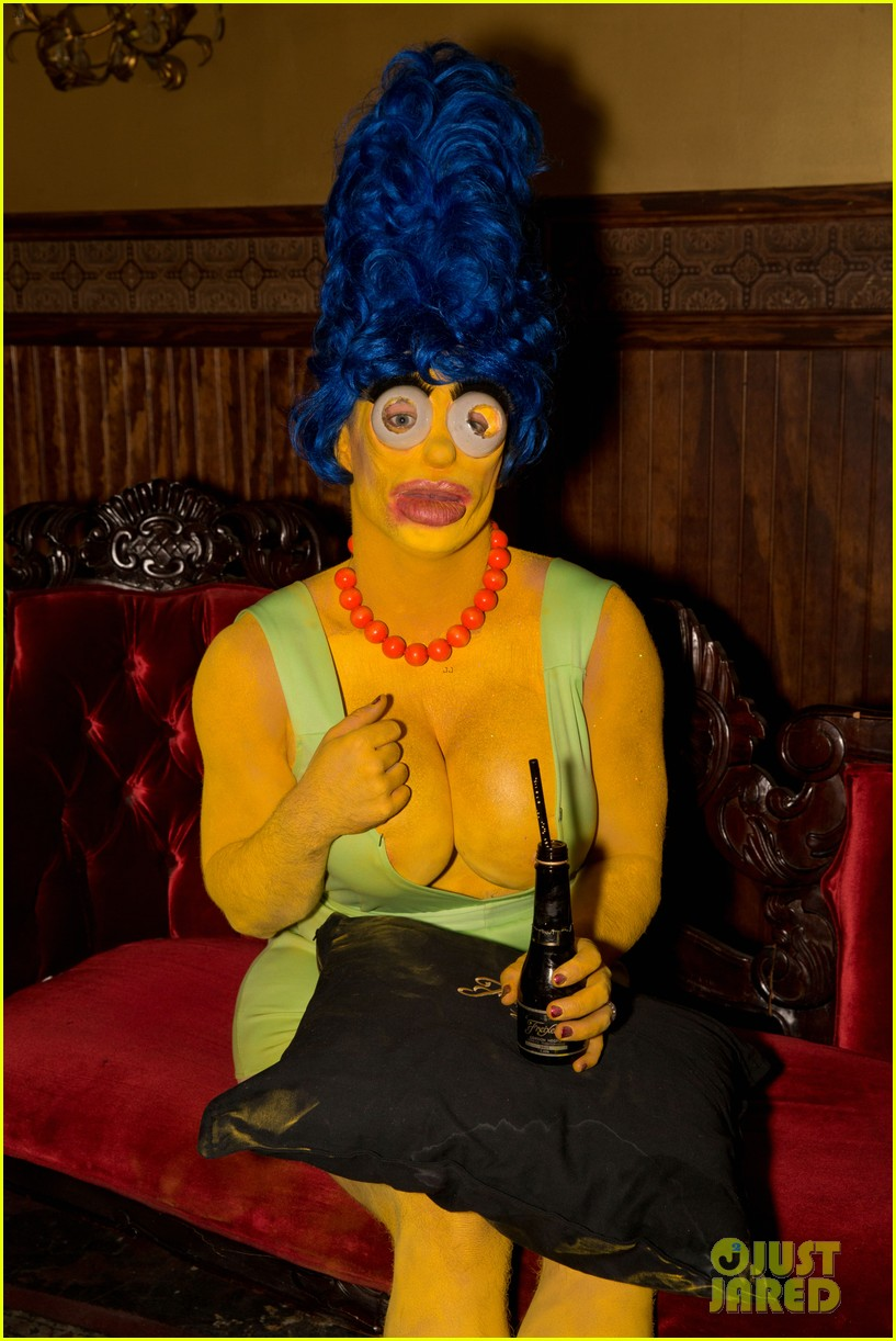 colton haynes channels marge simpson for halloween 043977703