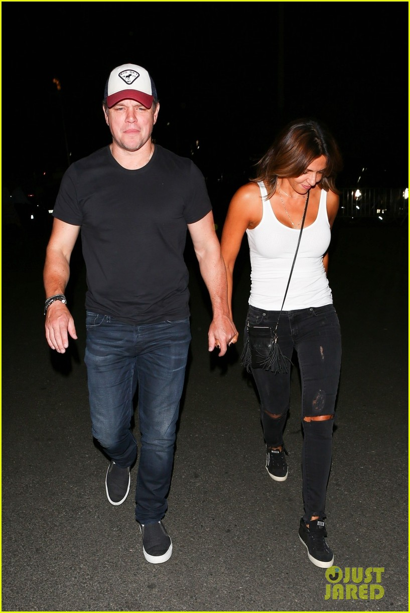 matt damon wife luciana enjoy date night at coldplay concert 023969475