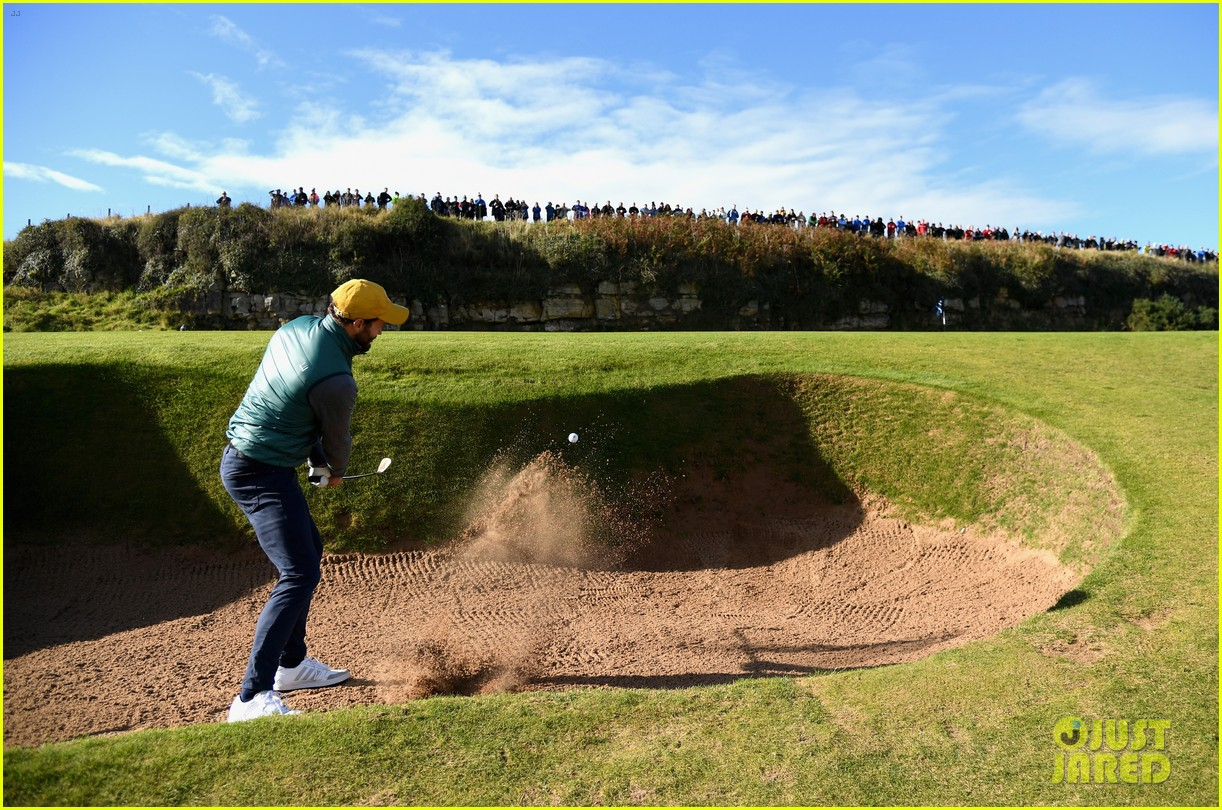 jamie dornan hits out of a bunker alfred dunhill championship 033969205