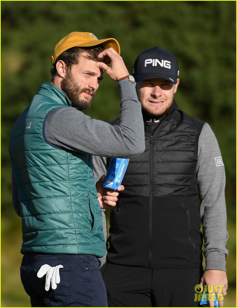 jamie dornan hits out of a bunker alfred dunhill championship 043969206