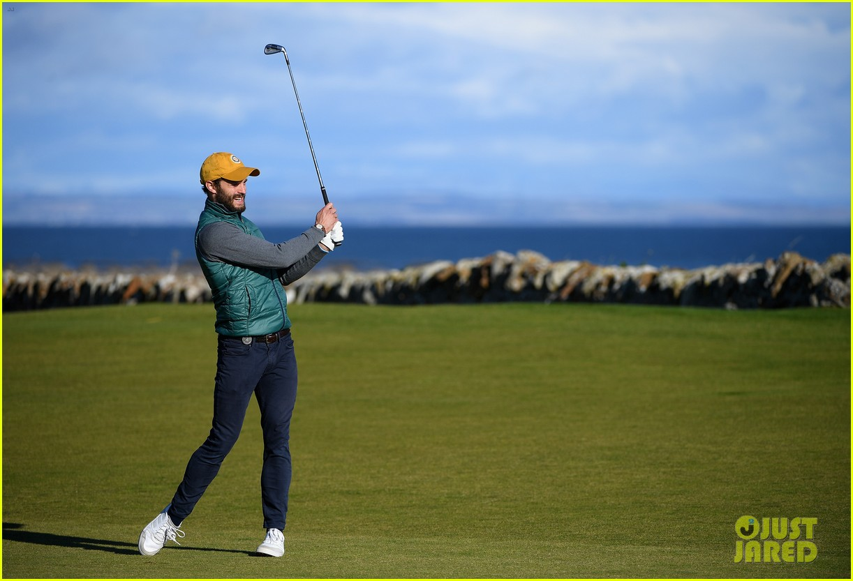 jamie dornan hits out of a bunker alfred dunhill championship 053969207