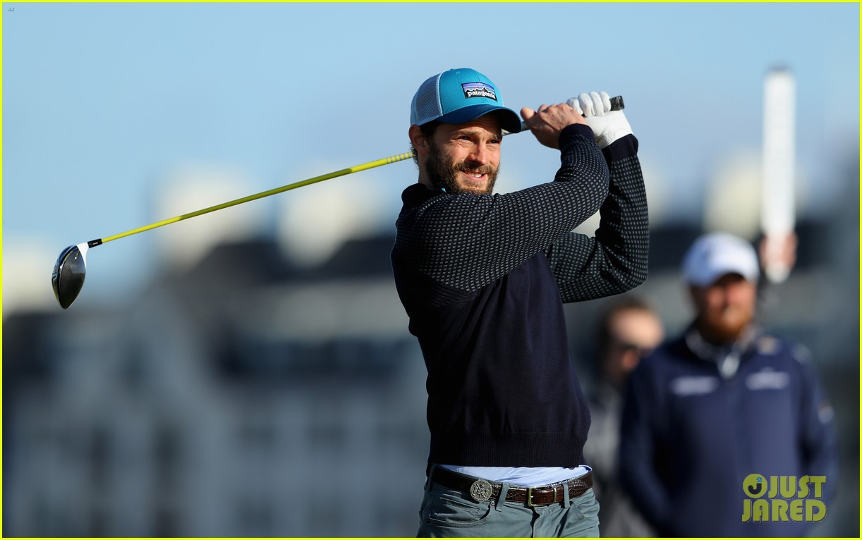 jamie dornan hits out of a bunker alfred dunhill championship 123969214