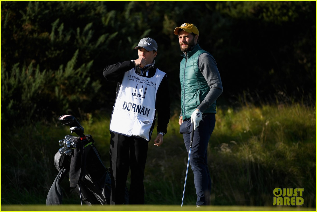 jamie dornan hits out of a bunker alfred dunhill championship 173969219