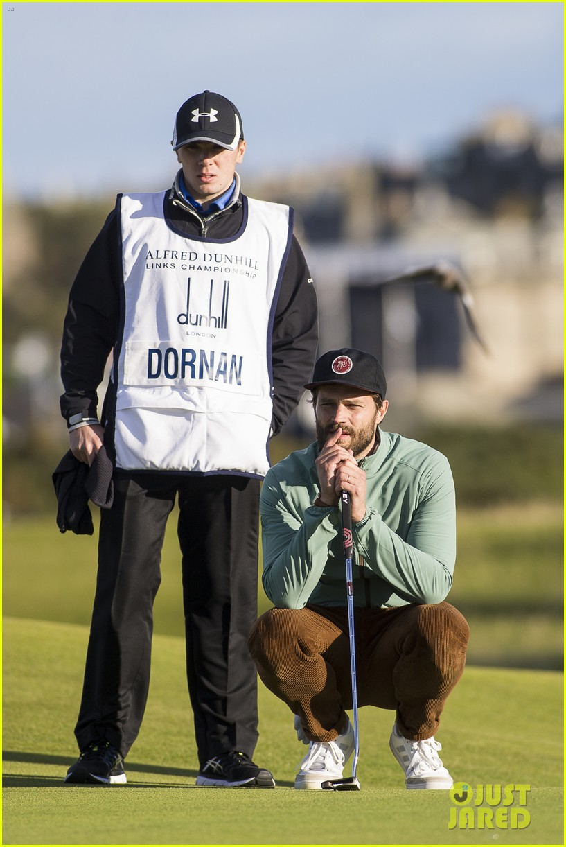 jamie dornan plays in alfred dunhill golf championship 313968682