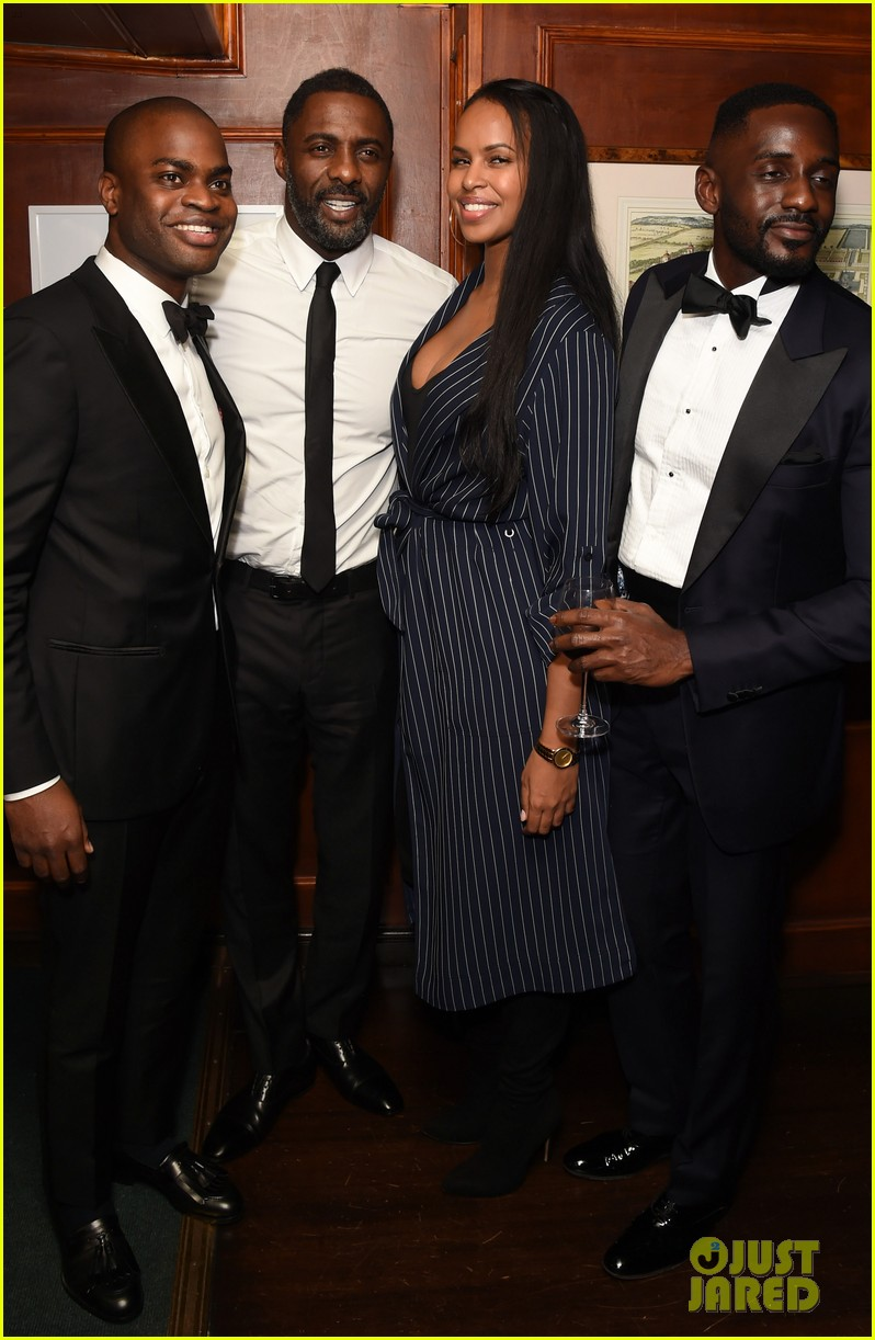 idris elba girlfriend sabrina dhowre couple up at day of the girl gala 023971392