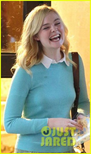 elle fanning shares a laugh on set of woody allen movie in nyc 043975388