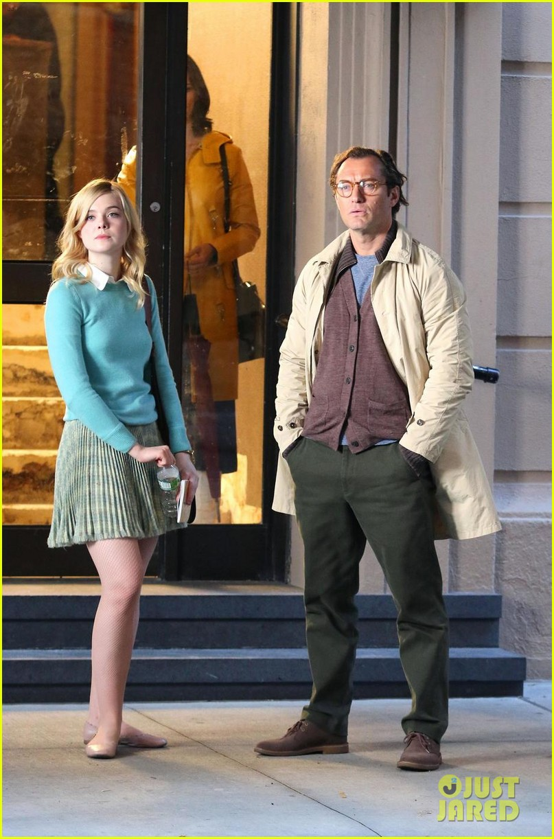elle fanning shares a laugh on set of woody allen movie in nyc 063975390