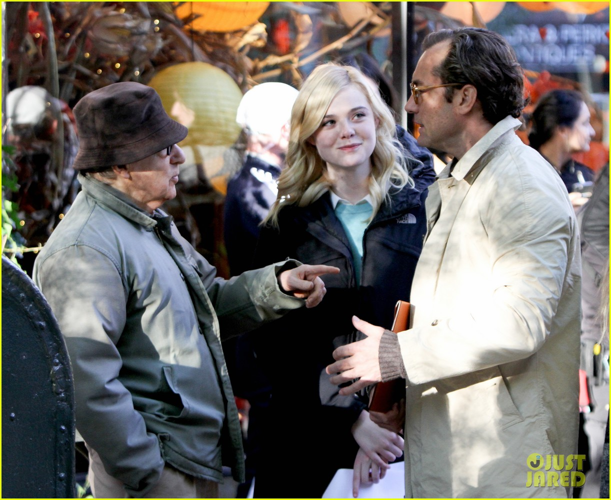 elle fanning jude law and rebecca hall film woody allen movie in nyc 143974735
