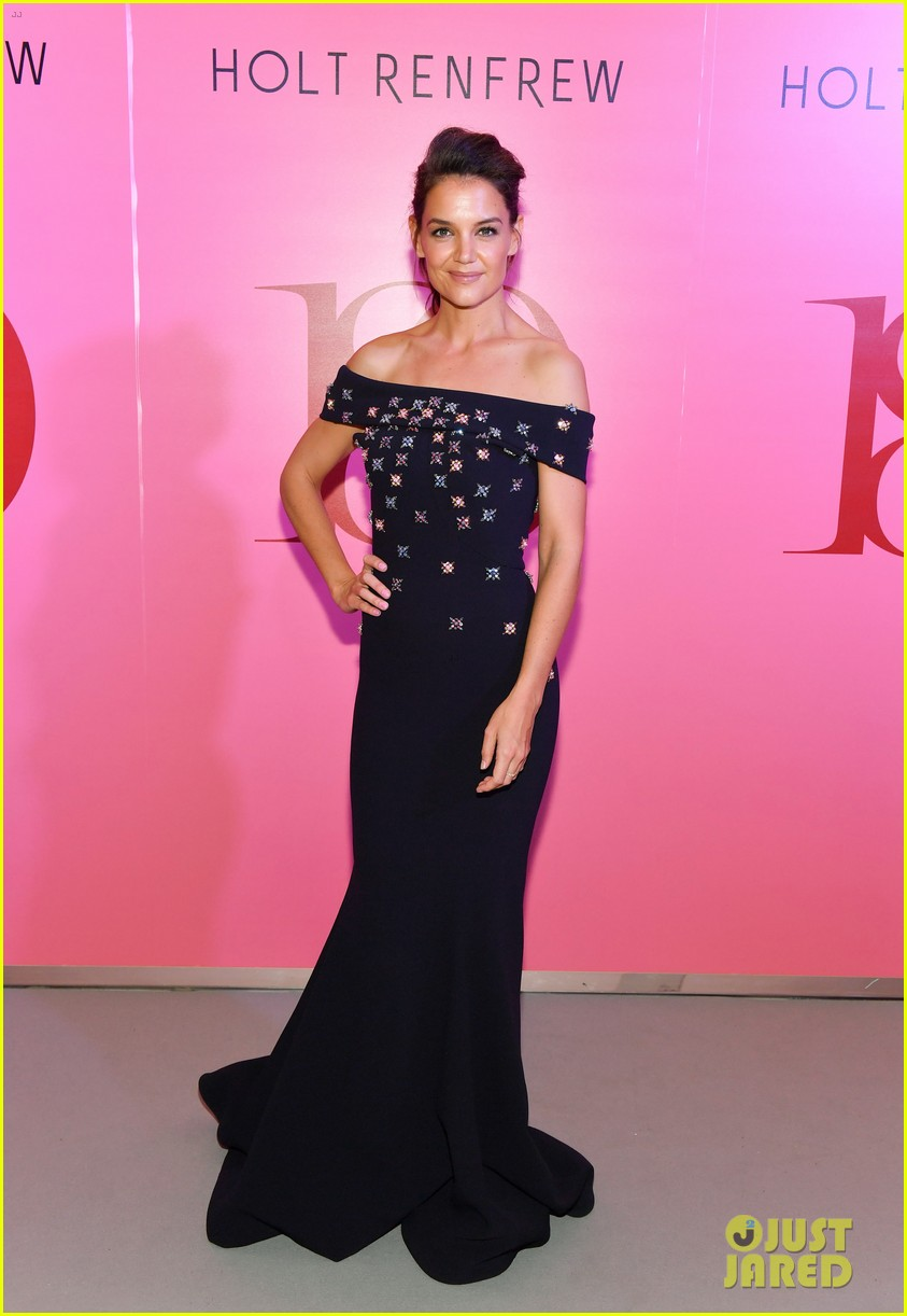 katie holmes shows off her casual style before slipping into elegant evening gown 083972040
