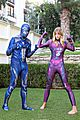 jaime king family dress up as power rangers for halloween 03