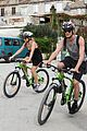 lily james matt smith go biking around croatia 05
