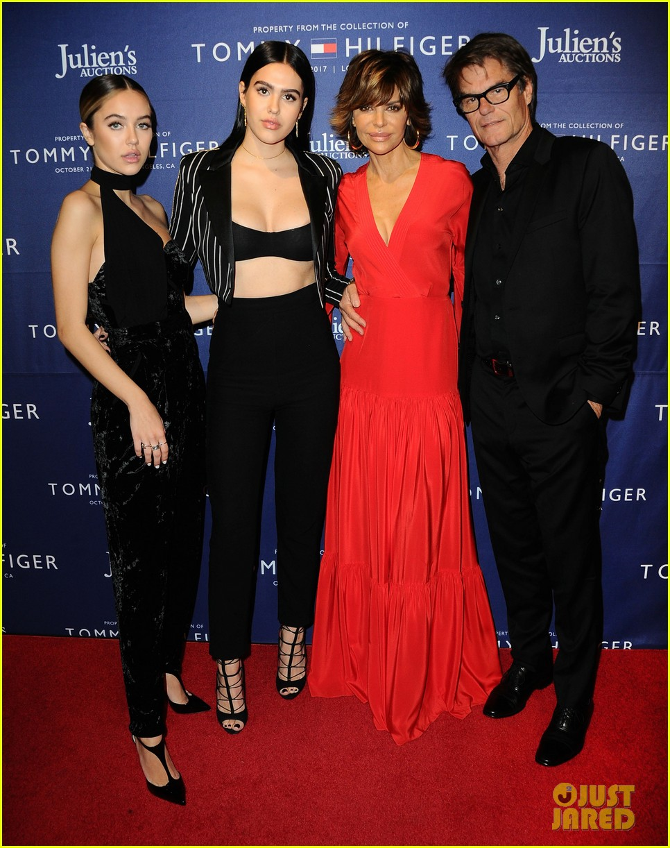 kris jenner corey gamble couple up at tommy hilfiger vip reception 043975671