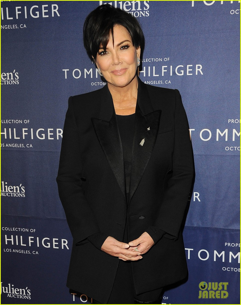 kris jenner corey gamble couple up at tommy hilfiger vip reception 083975675