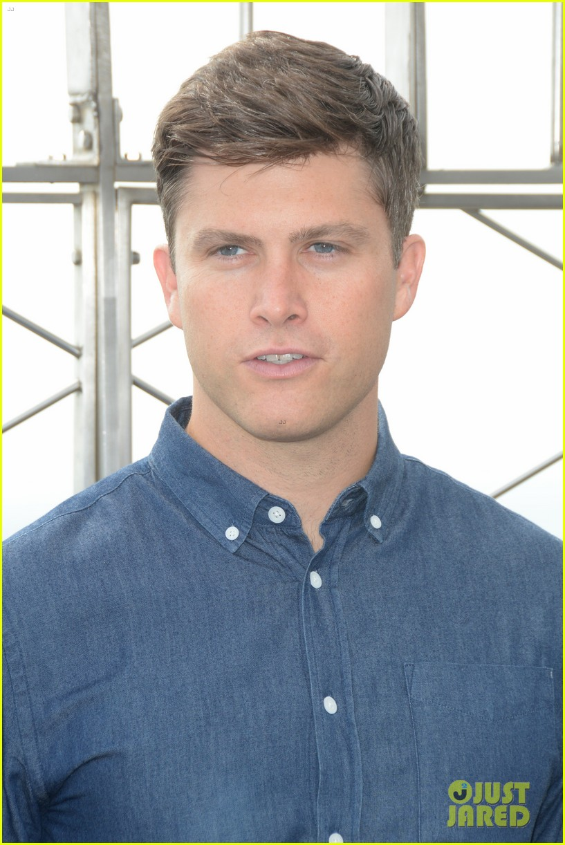 colin jost lights the empire state building in nyc 083968886