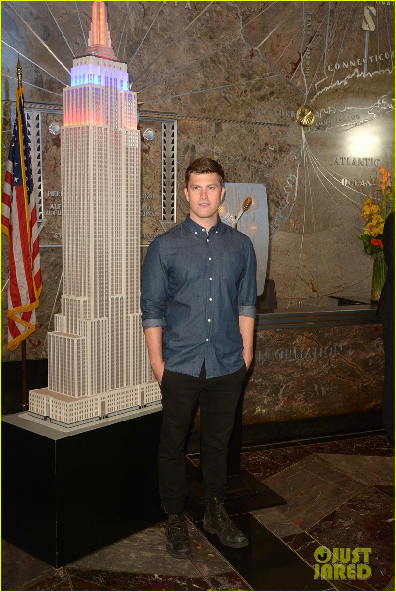 colin jost lights the empire state building in nyc 113968889