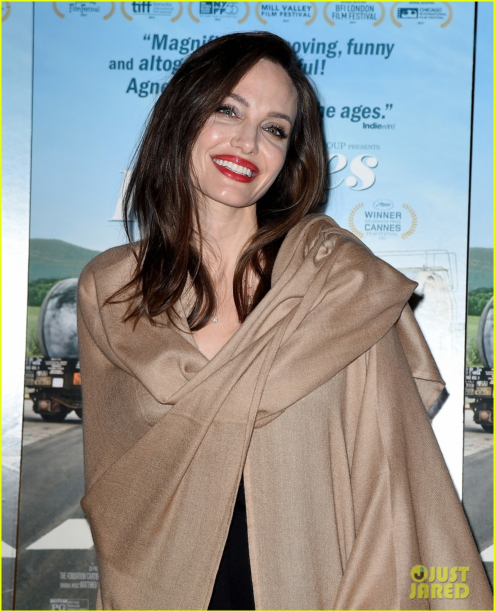 Angelina jolie at faces places premiere in west hollywood