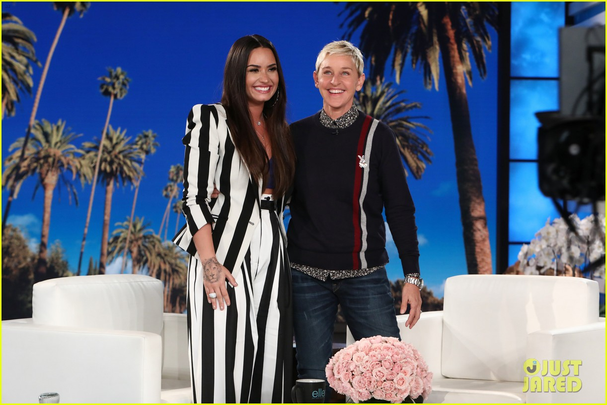 demi lovato addresses nick jonas romance rumors on ellen 023967874