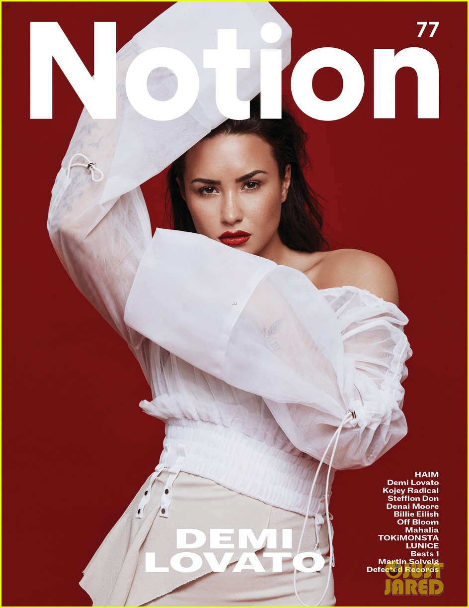 demi lovato tells notion mag she no longer has secrets that she has to hide 023967290