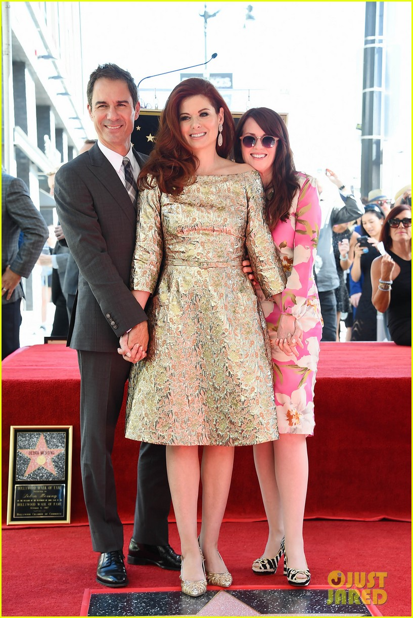 debra messings will and grace co stars support her at hollywood walk of fame ceremony 093969050