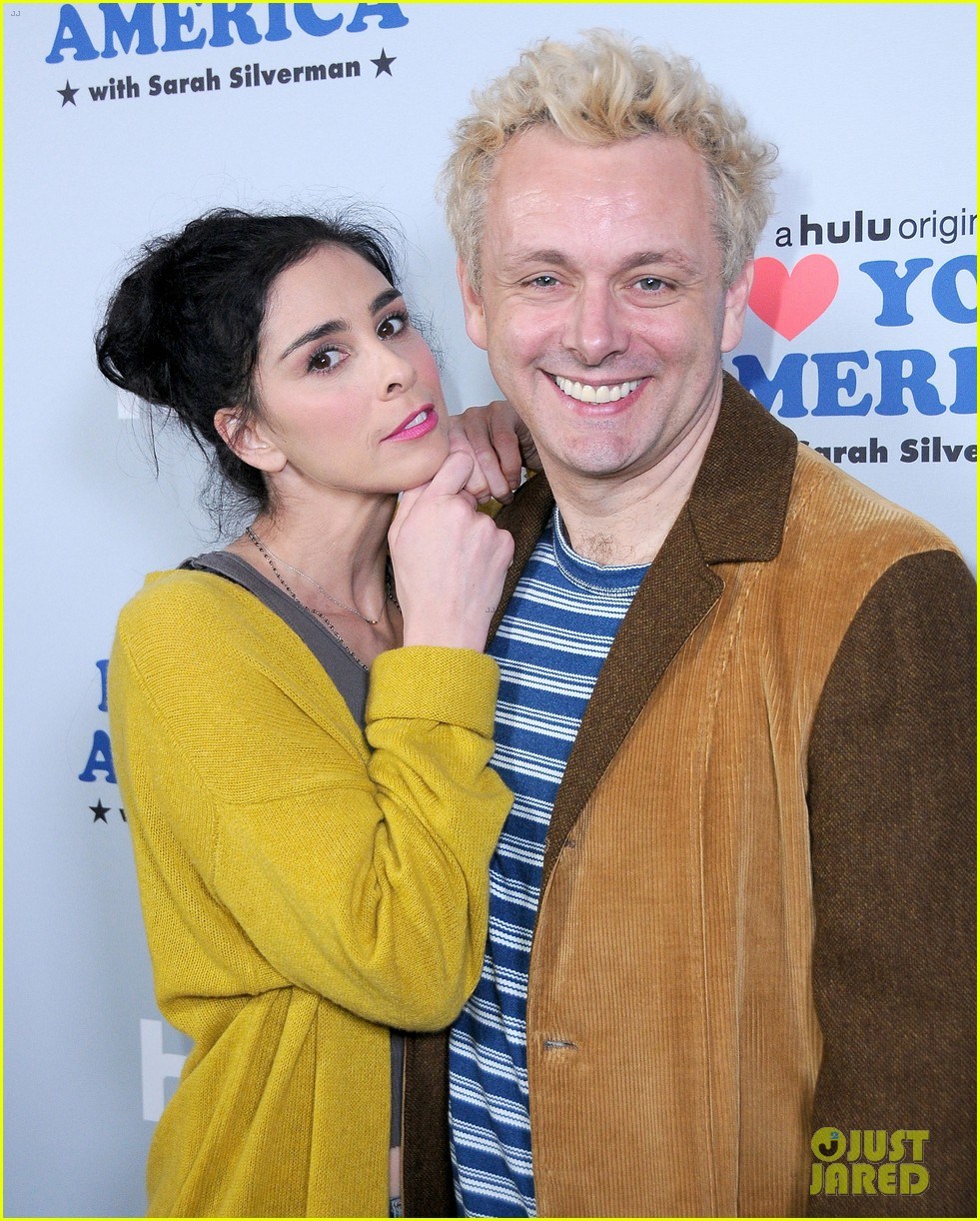 sarah silverman gets support from boyfriend michael sheen at i love you america 173971518
