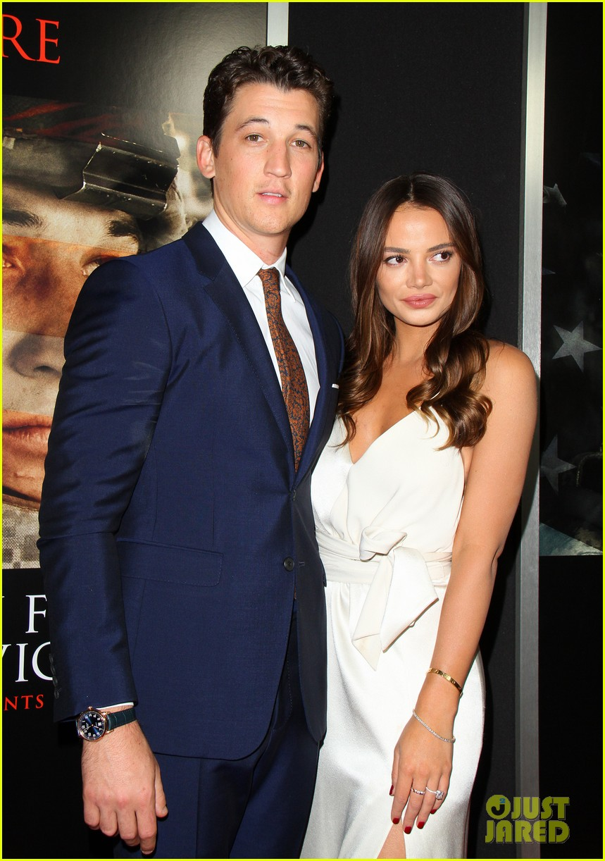miles teller keleigh sperry couple up at thank you for your service premiere 033977177