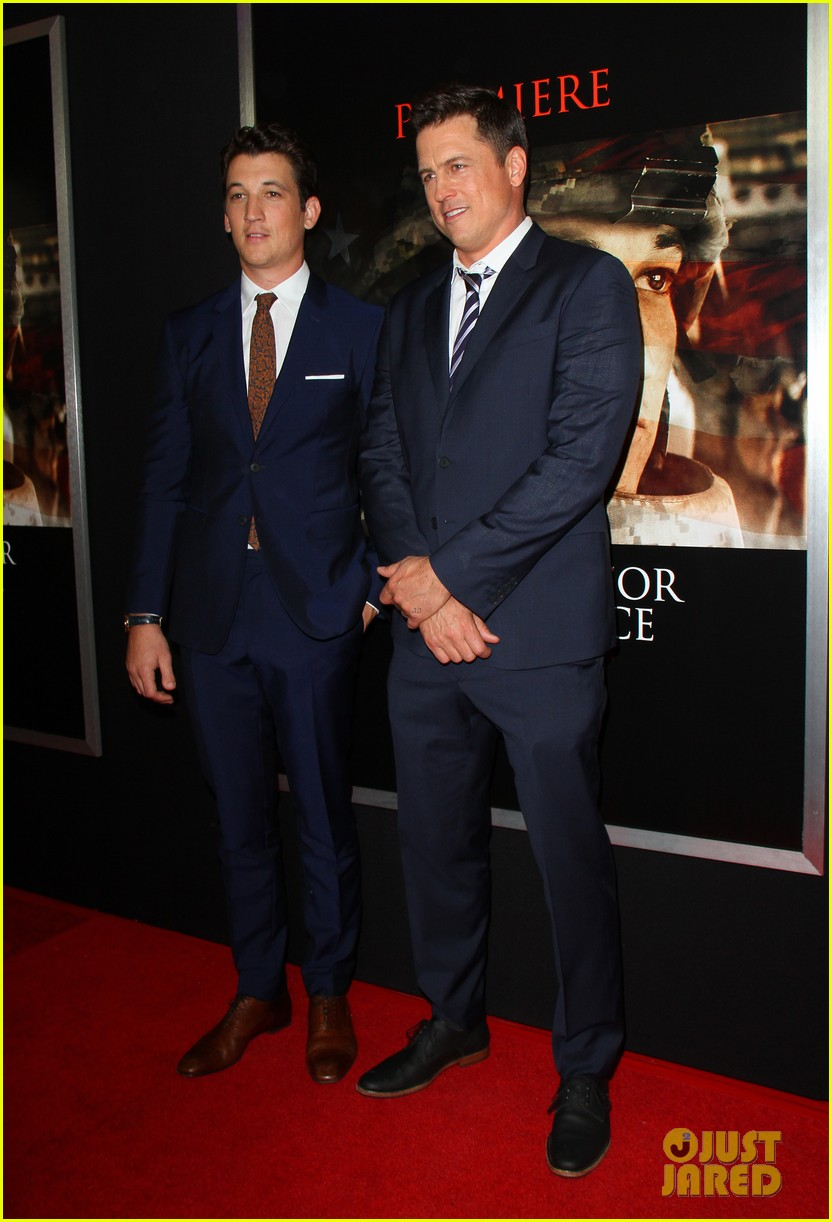 miles teller keleigh sperry couple up at thank you for your service premiere 323977206