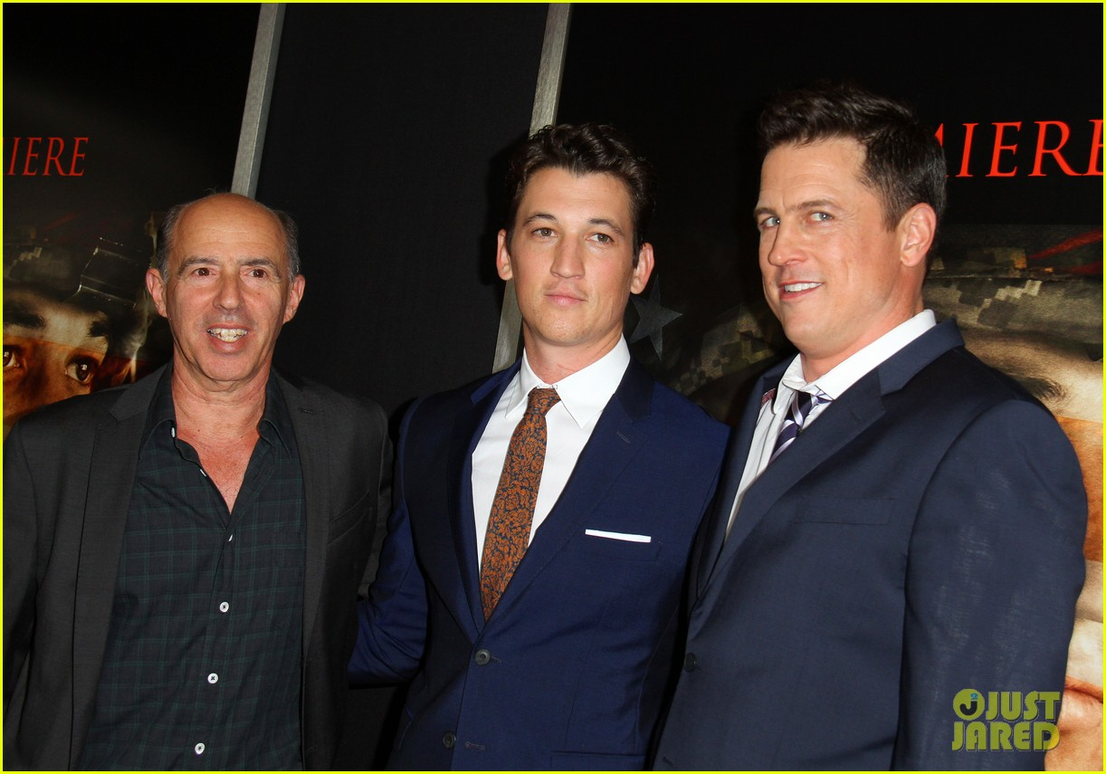 miles teller keleigh sperry couple up at thank you for your service premiere 333977207