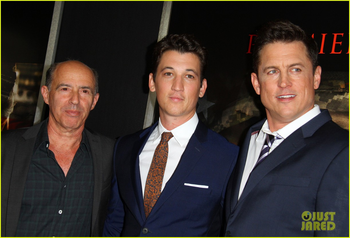 miles teller keleigh sperry couple up at thank you for your service premiere 353977209