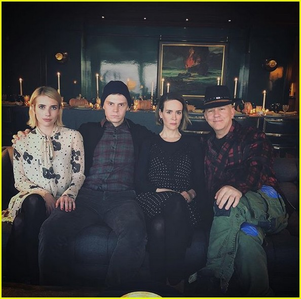 american horror story cast celebrates thanksgiving together 013992037
