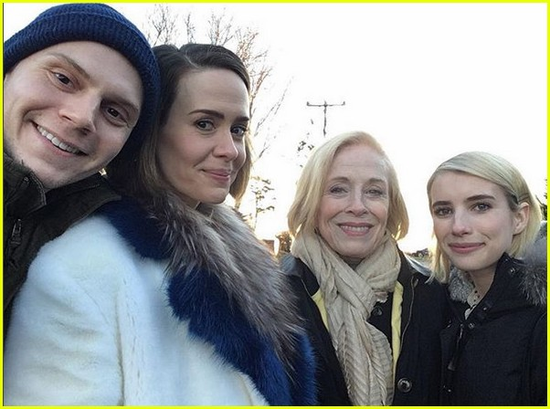 american horror story cast celebrates thanksgiving together 033992039
