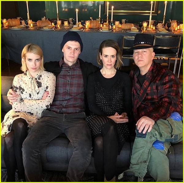 american horror story cast celebrates thanksgiving together 053992041