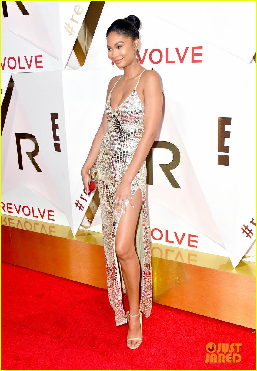 hailey baldwin and shay mitchell are beauties in black at revolve awards 2017 183981891