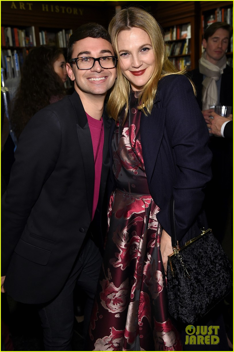 drew barrymore christina hendricks christian siriano dresses to dream about book launch 153984825