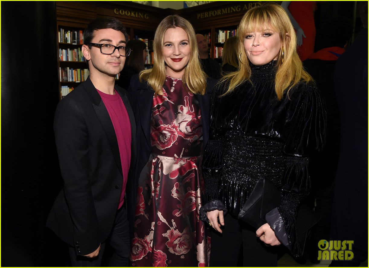 drew barrymore christina hendricks christian siriano dresses to dream about book launch 173984827