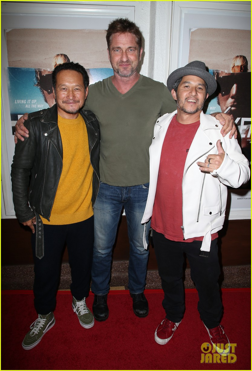 gerard butler joel kinnaman step out to support bunker77 doc premiere 013981163