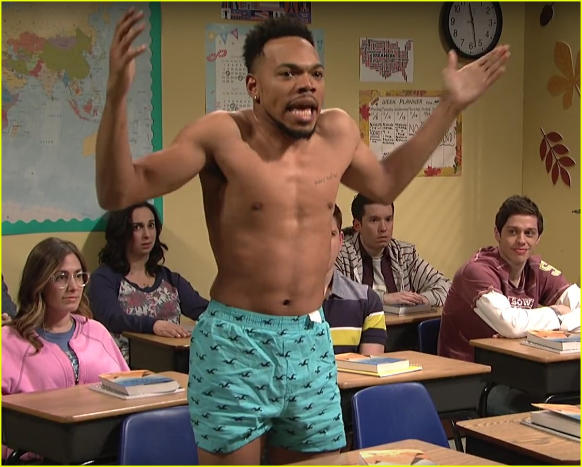 Chance the Rapper Strips Shirtless, Wears Only His